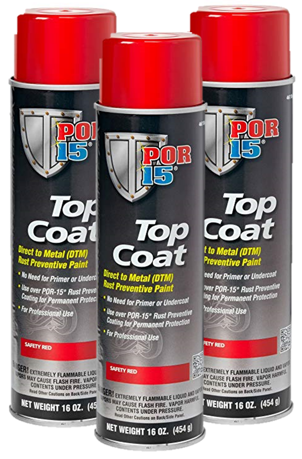 Top Coat Paint >> Por 15 Top Coat Safety Red